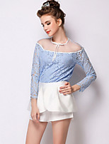 Women's Casual Micro-elastic ¾ Sleeve Regular Blouse (Lace)