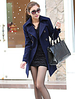 Women's Blue/Brown Coat , Casual/Party Long Sleeve Others