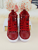 Girls' Shoes Children Pure Color Joker Category Color Red/White
