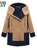 ZAY Women's Casual Hooded Thick Long Sleeve Loose Long Coat