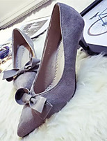 Women's Shoes Stiletto Heel Pointed Toe Pumps/Heels Dress Black/Gray