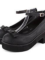 Women's Shoes Chunky Heel Round Toe/Closed Toe Loafers Outdoor/Dress/Casual Black/Brown