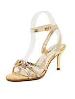 Women's Shoes   Stiletto Heel Heels/Peep Toe Sandals Casual Silver/Gold
