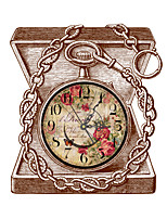 Vintage 3D Effect Treasure Box Wall Clock 17.6*15.75 inch / 44.7*40cm