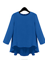 Women Fashion Loose Casual Long Sleeve Asymmetric Large Plus Size Blouse Shirt Tops
