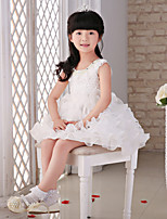 Princess Knee-length Flower Girl Dress - Lace/Organza Sleeveless