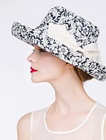 Women Vintage/Casual Summer Cotton Blend Floppy Hat