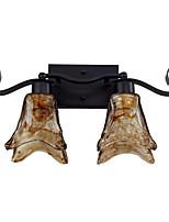 contratto lampada da parete in stile in lampade da parete nord america, 2 luci elegante europeo artistico
