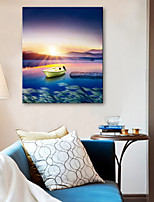 E-HOME® Stretched Canvas Art Boat on The Lake Decorative Painting
