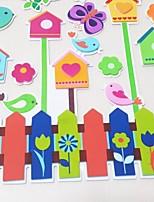 Small House + Bird 3D Wall KS-02