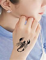 5Pcs Waterproof Luminous scorpion Pattern Temporary Body Art Tattoo Sticker