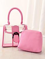 Women 's PU Shopper Totes - White/Pink/Blue/Gold/Gray/Black