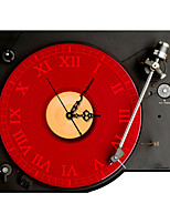 Modern/Contemporary Houses 3D Wall Clock Phonograph Indoor Clock