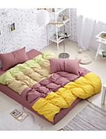 Bettbezug-Sets Purpur - Polyester / Baumwolle