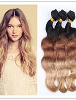 3pcs / lot paquetes armadura del pelo brasileño ombre ombre brasileño onda del cuerpo del pelo virginal 3tone pelo ombre brasileño