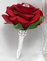 Boutonnieres ( Multicolor , Satén/Cristal/Rhinestone/Poliéster ) - Rosas
