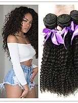 3pcs / lot verworrene lockige brasilianische verworrene lockige Haargrad 8a unverarbeiteten brasilianischen tiefes lockiges reines Haar