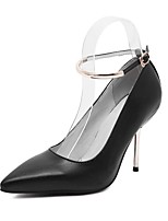 Women's Shoes Leather Stiletto Heel Comfort Pointed Toe Pumps Party More Colors available