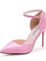 Women's Shoes Stiletto Heel Heels/Pointed Toe Pumps/Heels Casual Pink/Gray