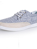 Men's Shoes Casual Fabric Fashion Sneakers Blue/Beige