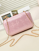 Women 's Other Leather Type Baguette Shoulder Bag/Clutch - White/Pink/Green/Yellow/Black