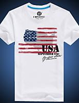 Men's European Style 3D Flag Printing T-Shirt (Cotton)