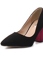 Women's Shoes Chunky Heel Heels Pumps/Heels Dress Black/Brown/Pink