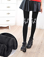 Women's Polyester Thick Print Legging