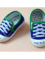Baby Shoes Outdoor/Casual Canvas Fashion Sneakers Blue/Red