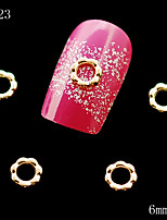 10pcs/lot Golden and Silver Alloy Metal Flower Shape Lovely Nail Art Alloy Decoration Glitters Slices