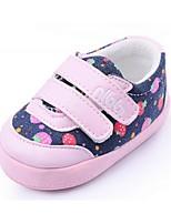 Zapatos de bebé Casual Vaquero/Cuero Sintético Sneakers a la Moda Rosa/Rojo