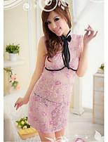 Vêtement de nuit Femme Nuisette & Culottes/Robe de chambre/Ultra Sexy/Uniformes & Tenues Chinoises Mélanges de Coton/Nylon/Satin