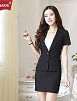 OUNAIOU®Women's Temperament Short Sleeve Suit Blazer(Blazer and Skirts)