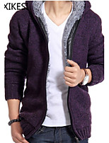 Men's Casual Pure Long Sleeve Regular Cardigan (Cotton/Knitwear) XKS7D07