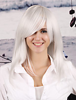 Women Synthetic White Wig Straight 22 Inch