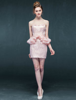 Sheath/Column Short/Mini Wedding Dress - Sweetheart Lace