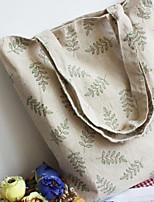 Women 's Canvas Shopper Shoulder Bag - Gray