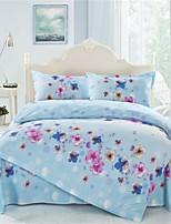 Light Blue Polyester King Duvet Cover Sets