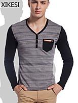 Katoenmix Heren - T-shirt - Informeel - Lange mouw
