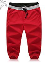 Men's Sweatpants , Casual/Formal/Sport Striped Cotton Blend/Elastic