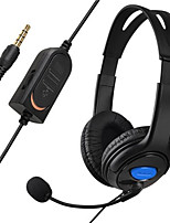 Wired Gaming Chat Stereo Bass Dual Ear Cup Headset headphone with Microphone boom MIC for Sony PlayStation 4 PS4