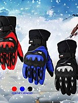 Fashional Waterproof & Windproof Skiing Gloves for Men and Women Motorcycle/Riding Black Full Finger Gloves