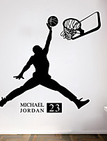 wall stickers da parete in stile decalcomanie basket jordan adesivi murali in pvc