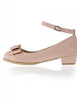 Women's Shoes Faux Leather Chunky Heel Heels Pumps/Heels Office & Career/Casual Pink/Purple/Beige