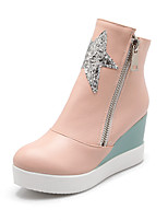 Women's Shoes Wedge Heel Wedges/Combat Boots Boots Office & Career/Dress/Casual Blue/Pink/White