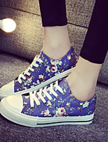 Women's Shoes Fabric Flat Heel Comfort Round Toe Fashion Sneakers