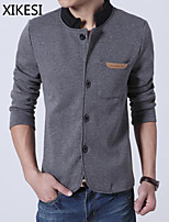 Men's Casual/Work Pure Long Sleeve Regular Jacket (Cotton)XKS7B19
