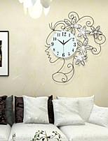 Modern Style Girl Iron Dimond Girl Mute Wall Clock
