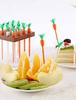 Set of 9Carrot Shaped Fruit Picks Kitchen Party Snack Cake Dessert Fruits Forks