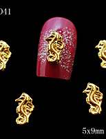 5*9mm 10pcs/lot Cute Jewelry Golden Hippocampus Shape Alloy Nail Charm For Nail Tip Accessories